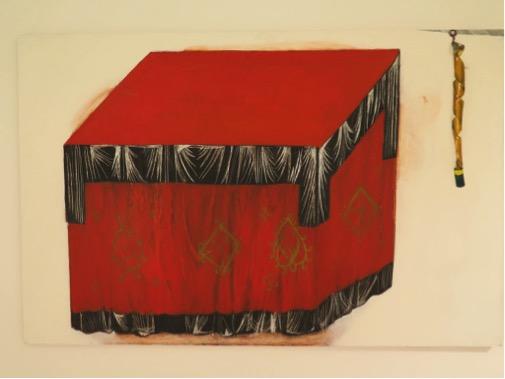 Prestol-ugotovannyj22-s-mucholapkou-podľa-Andreja-Rubľova-olej-na-drevotrieske-2012-120-x-80-cm-