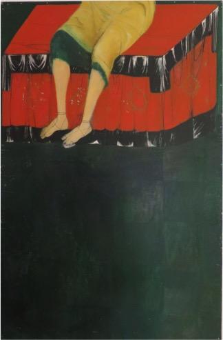 Prestol-ugotovannyj22-so-sediacim-podľa-Andreja-Rubľova-olej-na-drevotrieske-2012-120-x-80-cm