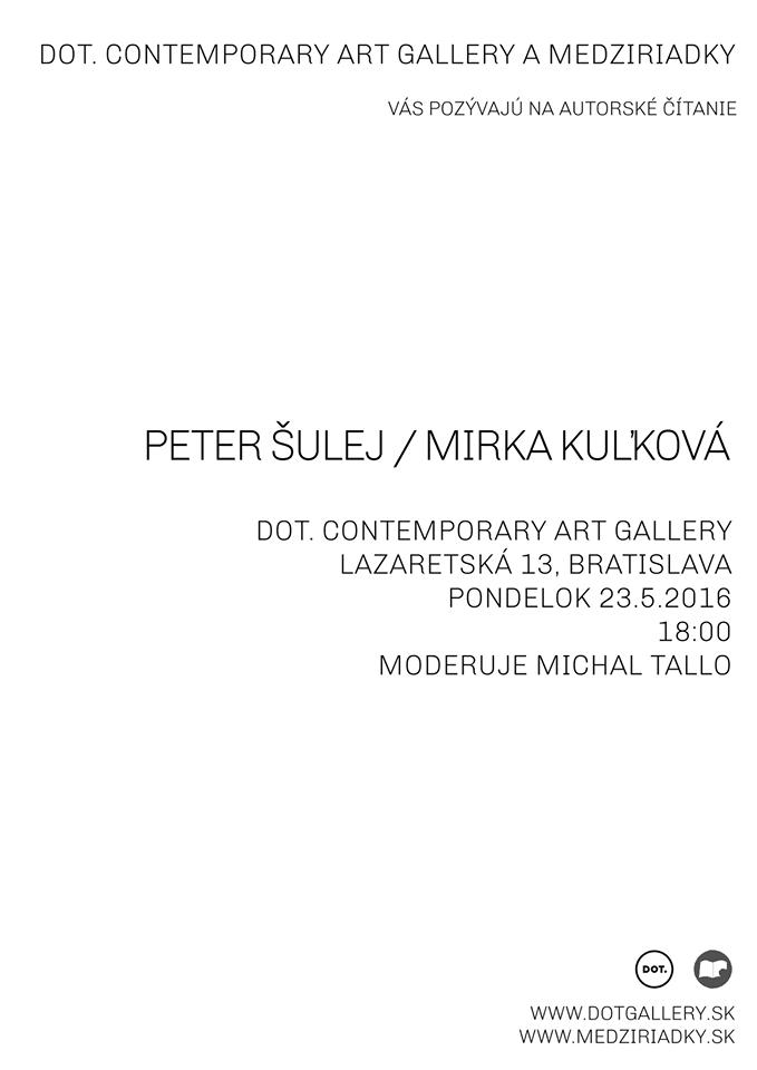 Peter Šulej, Mirka Kuľková - autorské čítanie