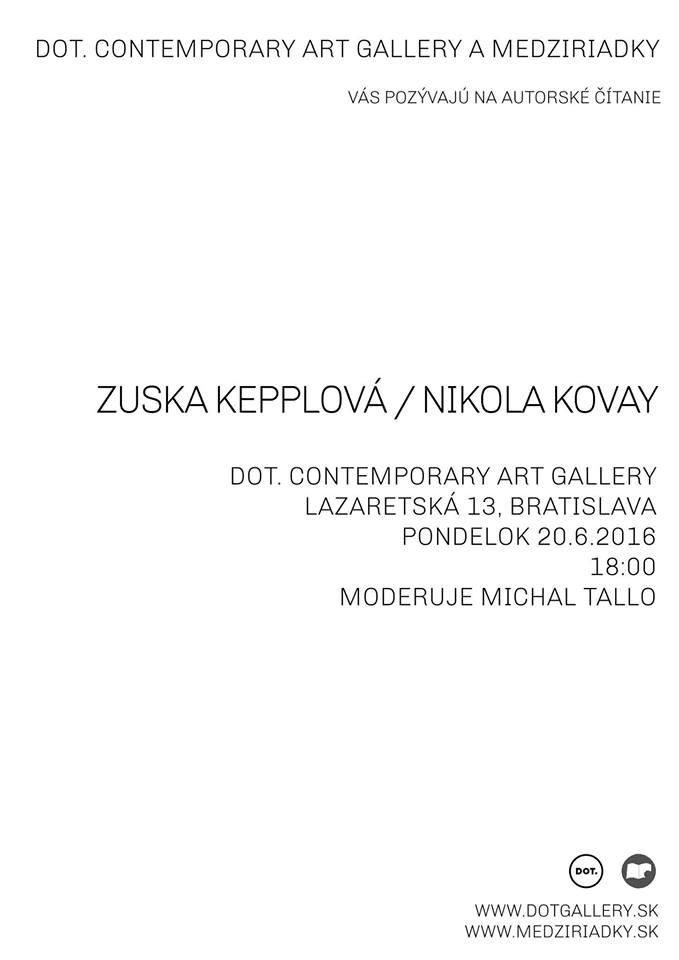 Zuska Kepplová, Nikola Kovay - autorské čítanie